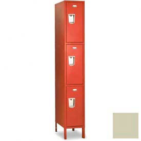 "Penco 6E427-1W-KD-073 Guardian Defiant II Locker Triple Tier 1 Wide, 15""W x 15""D x 24""H, Champagne"
