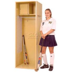 "Penco 6KFD41-021 Stadium® Locker With Shelf & Security Box,33""Wx18""Dx72""H Gray Ash Unassembled"