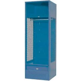 Penco 6KFD52-806 Stadium® Locker With Shelf & Footlocker, 33x21x72, Marine Blue, Unassembled