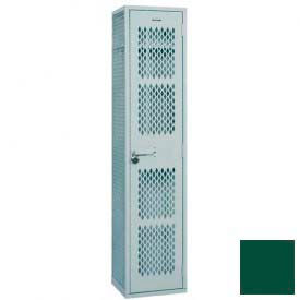 "Penco Angle Iron Locker, Cremone Handle, 1 Tier, 1 Wide, 12""W x 12""D x 60H"", Hunter Green"
