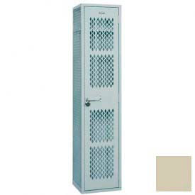 "Penco Angle Iron Locker, Cremone Handle, 2 Tier, 1 Wide, 12""W x 18""D x 30H"", Champagne"