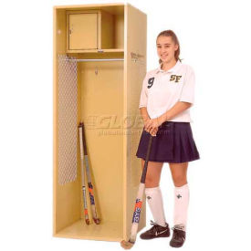 Penco 6WFD09-767 Stadium® Locker With Shelf & Security Box,18x18x76, Cardinal Red, All Welded