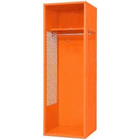 "Penco 6WFD10-949 Stadium® Locker With Shelf, 24""Wx18""Dx76""H, Jet Black, All Welded"