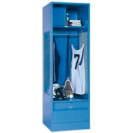 Penco 6WFD53 Stadium® Locker With Shelf Security Box & Footlocker 33x21x76 Jet Black All Welded