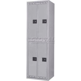 Penco LF-2/2-GRY-COM 4 Compartment, Hanging Garment Dispenser Locker, Gray w/Combo Locks