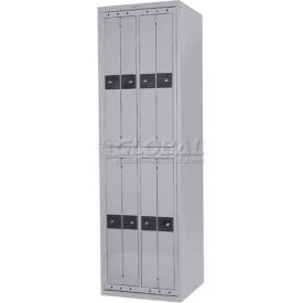 Penco LF-8C-GRY-COM 8 Compartment, Hanging Garment Dispenser Locker, Gray w/Combo Locks