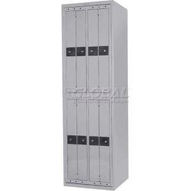 Penco LF-8C-GRY-TRNB 8 Compartment, Hanging Garment Dispenser Locker, Gray w/Turn Knob Locks