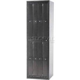Penco LF-8C-SLV-TRNB 8 Compartment, Hanging Garment Dispenser Locker, Silver Vein w/Turn Knob Locks