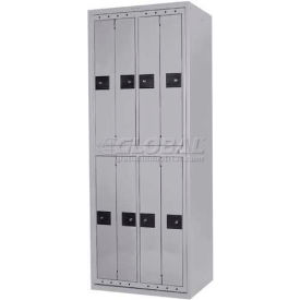 Penco LF-BG8-GRY-CAM Big 8 Compartment, Hanging Garment Dispenser Locker, Gray w/Cam Locks