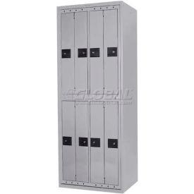 Penco LF-BG8-GRY-TRNB Big 8 Compartment, Hanging Garment Dispenser Locker, Gray w/Turn Knob Locks