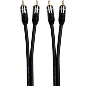High Performance Portable Stereo Audio Cable, 3.5mm Jack Plug to 2xRCA Plugs, 5m