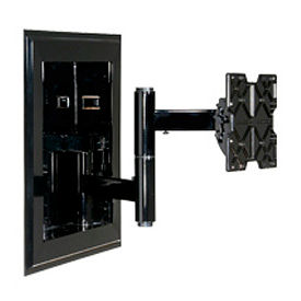 """In-Wall Mount For 32""""-71"""" Flat Panel Screens w/ VESA Mounting Patterns - Black"""