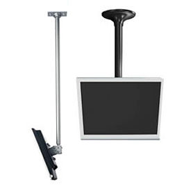 "LCD Ceiling Mount, 18"" To 30"" Adjustable Height - Black"