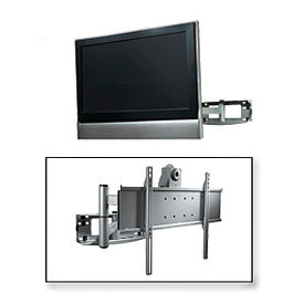 "Universal Articulating Arm Wall Mount For 32""-65"" Flat Panel Screens - Silver"