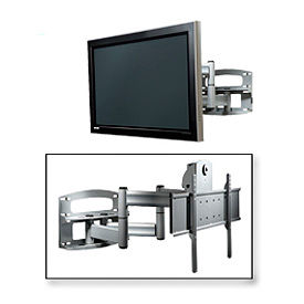 """Universal Dual-Arm Mount w/ Anti-Theft Hardware For 42""""-65"""" Screens - Silver"""