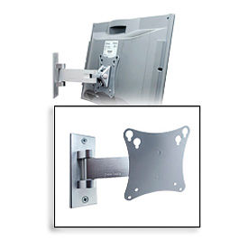 "Smartmount® Universal Pivot Mount For 10"" - 24"" LCD Screens - Silver"