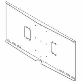 """Double Metal Stud Wall Plate w/ Electrical Knockouts - 24"""" Centers"""