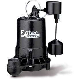 Flotec Professional Series 1/2 HP Submersible Cast Iron Effluent Pump, Vertical Switch