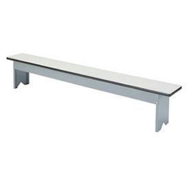 Free Standing Plastic Top Steel Locker Benches