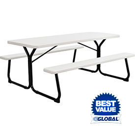 Plastic Picnic Tables With Steel Frame