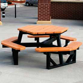 Recycled Plastic Picnic Tables With Plastic Frame