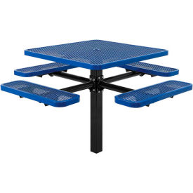 Steel In Ground Mount Picnic Tables - Expanded Metal & Perforated