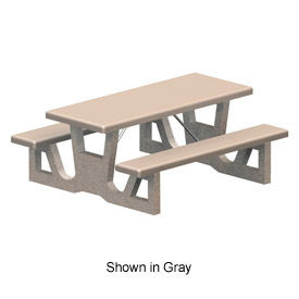 Brilliant Picnic Tables Concrete Globalindustrial Com Home Interior And Landscaping Fragforummapetitesourisinfo