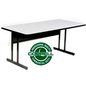 Correll - Laminate Top Computer Tables with Keyboard, Desk & Adjustable Heights