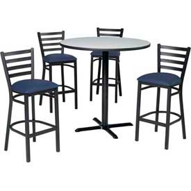 Premier Hospitality Furniture - Bar Height Café Table & Ladder Back Barstools Set