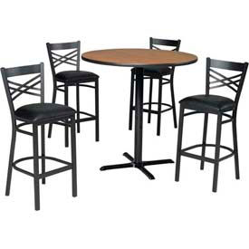 Premier Hospitality Furniture - Bar Height Café Table & Criss-Cross Back Barstools Set