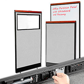 Interion® Deluxe Cubicle Partition Panels with Powered and Non-Powered Base