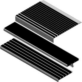 Babcock-Davis® Stair Treads With Abrasive, Extruded & Type 319 Aluminum
