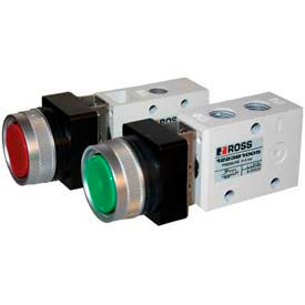 ROSS® 3-Way Manual Push Button & Selector Switch Valves
