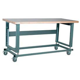 Stackbin Electric Hydraulic Lift Adjustable Height Mobile Workbenches