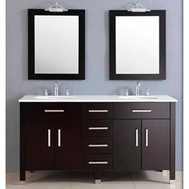 Vanity Sets With Top, Mirror, Sink & Faucet