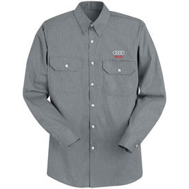 Red Kap® Heathered Poplin Uniform Shirts