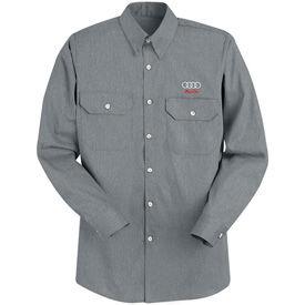 Red Kap® Heathered Poplin Uniform Shirts