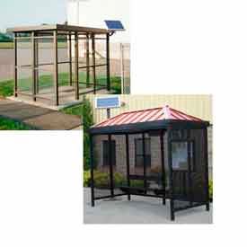 Bus And Smoking Shelters With Solar LED Lighting