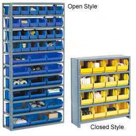 Steel Shelving With Premium Plastic Stacking Bins