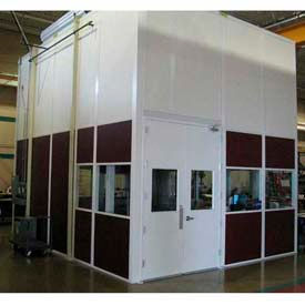 Ebtech Prefabricated Modular Inplant Offices – Vinyl Clad, Class C Fire & 28 STC Rated (Aluminum Frame)