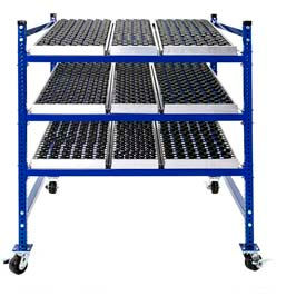 Mobile Gravity Flow Rack with Wheel Track