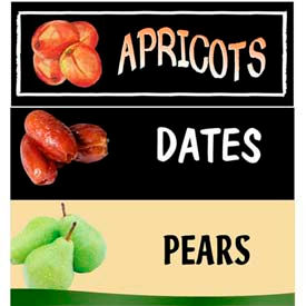 Stone Fruit Grocery Signs