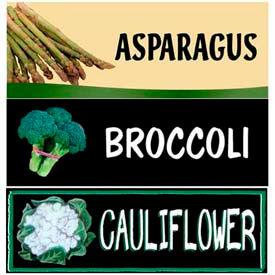 Broccoli, Cauliflower & Asparagus Grocery Signs