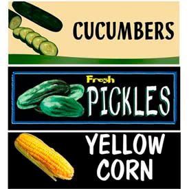 Corn & Cukes Grocery Signs