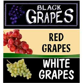 Grapes Grocery Signs
