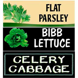 Leafy Grocery Signs