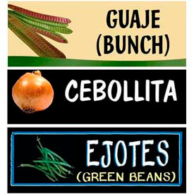 Miscellaneous Ethnic Grocery Signs