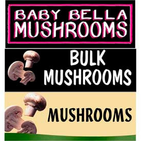 Mushrooms Grocery Signs