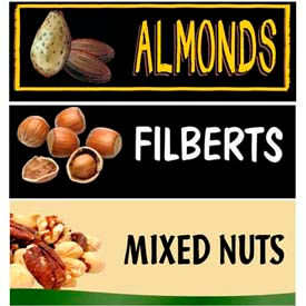 Nuts Grocery Signs