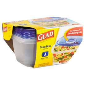 Glad® GladWare® Plastic Containers with Lids